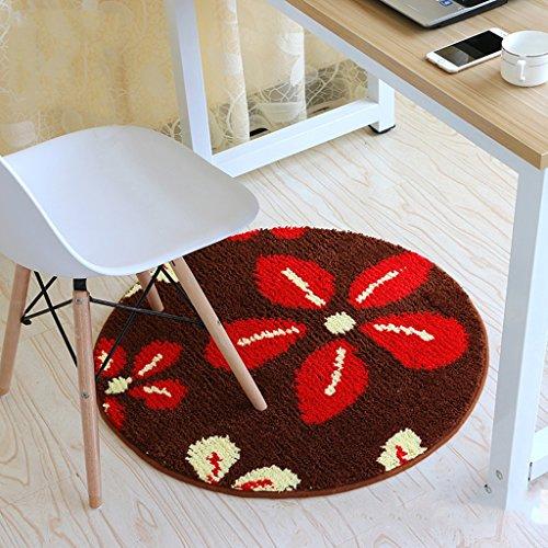 Good thing tapis Épaisseur, simple, mat rond, panier, panier, tapis, sans glissière, ordinateur chaise, chaise, chaise, matelas personnalisé (Couleur : D, taille : Diamètre 60cm)