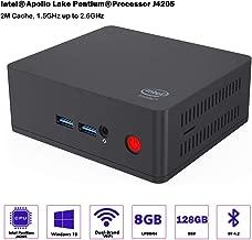 YODOLLA AP45 Mini PC Desktop cumputer Intel Pentium J4205 Processor (up to 2.3GHz),2.4G+5G Dual WiFi,Gigabit Ethernet,BT 4.2,4K HD,Windows 10 (64-bit)
