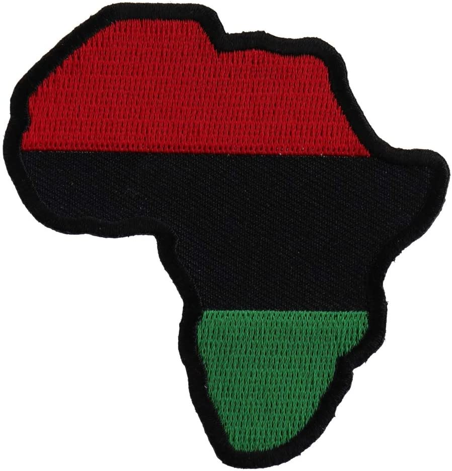 African Map Patch - 3x3 Dedication inch. Embroidered on Iron Al sold out.