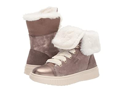 Geox Kids Jr Discomix 9 (Little Kid/Big Kid) (Dark Beige) Girls Shoes