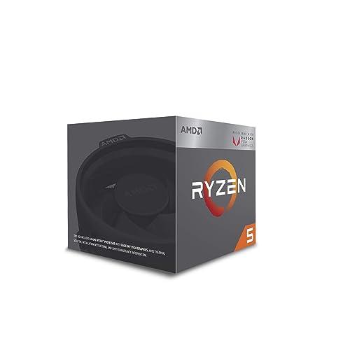 AMD Ryzen 5 2400G - Procesador con Radeon RX Vega11 Graphics (3.6 hasta 3.9 GHz, DDR4 hasta 2933 MHz, 1250 MHz del GPU, L2 / L3 Cache: 2 MB + 4 MB, 65 W)