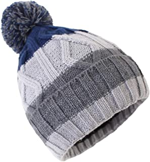 Exemaba Baby Boys Winter Hat - Infant Soft Warm Knitted Beanie Cap Cute Fall Toddler Kids Crochet Pom Pom Hat
