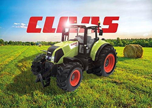 RC Auto kaufen Traktor Bild 2: Siva Claas Traktor Trekker Bulldog Axion 850 mit Fernsteuerung | Ferngesteuertes Fahrzeug im original Claas-Design mit Lichtfunktion vorne und hinten*