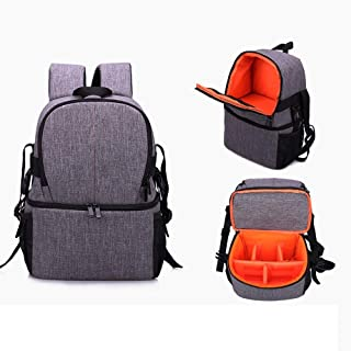 Carrier-bag Knapsack Outdoor Professional Nylon Material Camera Bag Shoulder Small Backpack Waterproof Shockproof Anti-theft For Sony Canon Nikon Camera Bag Size 162735cm handbag Color : Purple