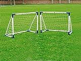 Outdoor Play   Garten Fußballtor für Kinder und Erwachsene Vario 2X 120x90 cm oder 1x 183x152 cm, aus Kunststoff in Top Qualität