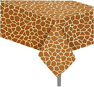 Animal Print Tablecloth Giraffe Tablecloth Animal Theme Table Cover Party Supplies for Birthday Baby Showers (Giraffe)