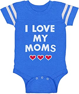 I Love My Moms - Gay Pride Infant Baby Jersey Bodysuit