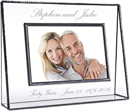 J Devlin Pic 319-57H EP553 Personalized Anniversary Picture Frame Engraved Glass Tabletop 5 x 7 Horizontal Photo Frame Keepsake Gift
