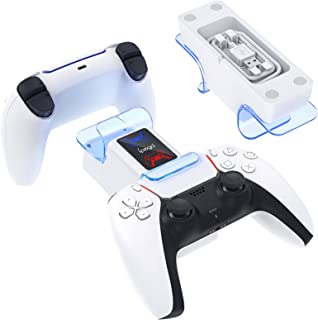 Dual Charging Stand for PS5 Controller, MENEEA Fast Charger Dock Station for Playstation 5 Wireless DualSense Controller w...