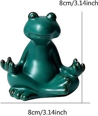 Yoga Frog Statues and Sculptures for Home Decor, Meditating Zen Sculpture Decorations for Living Room, Tea Pet, Ornaments for