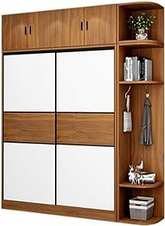 Lwieui Guardarropa Armario Hogar Dormitorio Moderno Minimalista Sala de Alquiler con apartamento pequeño gabinete de Puert...