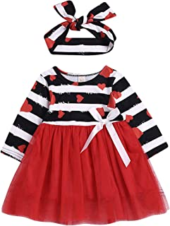 Baby Girls Valentine's Day Love and Heart Dress with Tutu