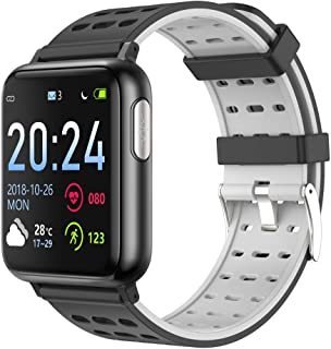 XMYL Fitness Tracker, ECG + PPG Smart Watch with Heart Rate Monitor Blood Oxygen Monitor Pedometer Waterproof IP67 for Samsung Huawei Android iOS Smartphone
