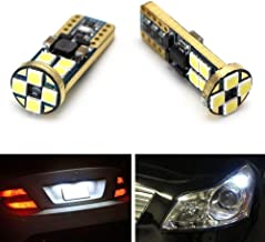 iJDMTOY (2) High Power 12-SMD-5050 168 194 2825 W5W T10 LED Bulbs For License Plate Lights or Parking Position Lights, Xenon White