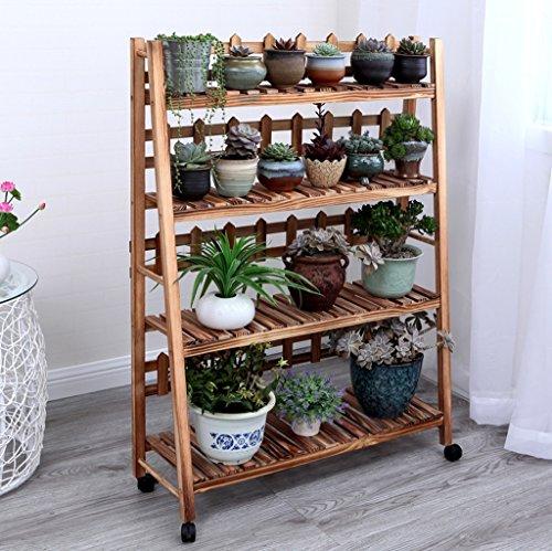 Présentoir à motifs multicouches à étagères en bois multicolore étagère à bois salon de fleurs salon de jardin intérieur ( Couleur : Marron , taille : 90*115cm )