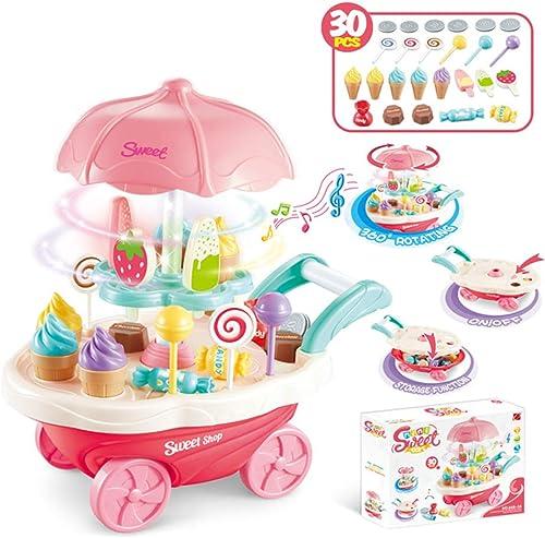 comprar ahora XUMING Play Kitchen, Kids Kitchen Kitchen Kitchen Set Kids Kitchen Toys Juegos de rol Cocina y Comida Juguetes Simulación Mini Candy Helado Supermercado,B  grandes precios de descuento