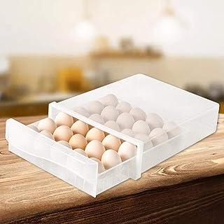 24 contenedores de huevo de rejilla de doble capa con asa organizador de huevos para refrigerador WBTY Caja de almacenamiento y transporte multiusos
