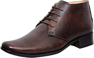 Zoom Online Shoes for Mens Boots Genuine Leather Shoes and Formal Shoes G-71-Brown Shoes