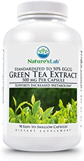 Sponsored Ad - Nature's Lab Green Tea Extract with EGCG 500mg - Powerful Antioxidants, Weight Support, Energy, Polyphenols...