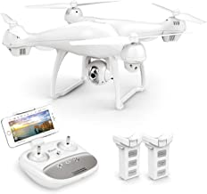 Potensic T35 GPS Drone, RC Quadcopter with 1080P Camera FPV Live Video, Dual GPS Return Home, Follow Me, Altitude Hold, 2500mAh Battery Long Control Range, 2 Batteries