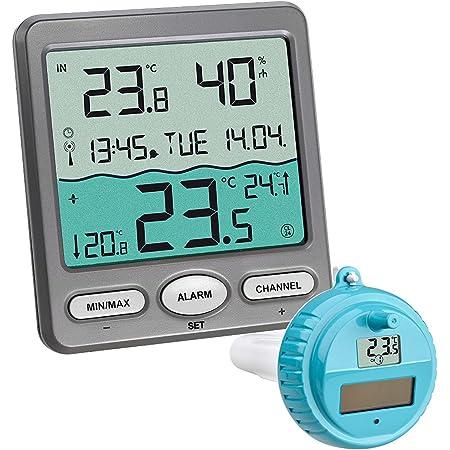 TFA-Dostmann Thermomètre Piscine Venice 30,3056,10, pour la Surveillance de la température d'eau dans Une Piscine, Bassin ou Piscine, Gris
