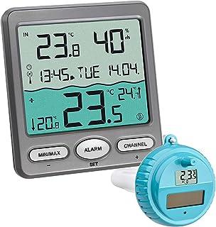 TFA-Dostmann Thermomètre Piscine Venice 30,3056,10, pour la Surveillance de la température d'eau dans Une Piscine, Bassin ...