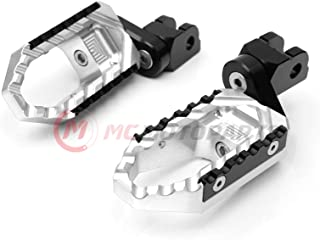 MC Motoparts Silver Front Wide CNC Touring 25mm Extended Footpegs For Ducati Monster 821 15-17 Monster 797 17-18