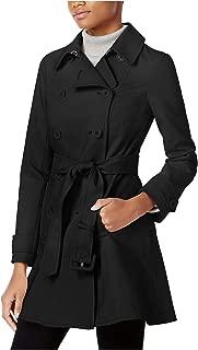 Women's Skirted Trench Coat Black Small