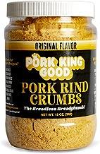 Pork King Good Low Carb Keto Diet Pork Rind Breadcrumbs! Perfect For Ketogenic, Paleo, Gluten-Free, Sugar Free and Bariatric Diets (Original) (Original, 12 Oz Jar)