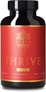 Thrive Gold Premium Anti-Aging Supplement | NMN and L-Ergothioneine | Activates Anti-Aging Genes | Optimizes Mitochondrial Health & Function | Reduces Oxidative Stress | Promotes Vitality & Longevity