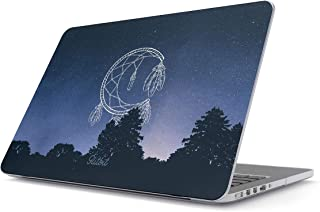Glitbit Hard Case Cover Compatible with MacBook Pro 13 Inch Case Release 2016-2018 Model:A1989 /A1706 /A1708 with or Without Touch Bar Moon Dreamcatcher Mandala Cosmic Stars Galaxy Universe Landscape