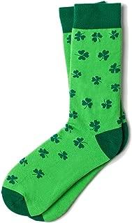 Men's Green Luck of the Irish Shamrock Crew Dress Socks …
