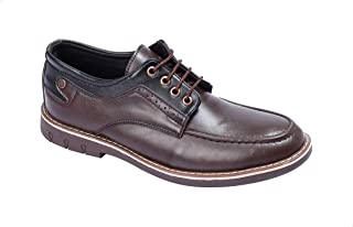 Grinta Moc-Toe Perforated Leather Lace-Up Shoes for Men