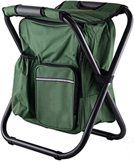 I'll NEVER BE HER Fishing Backpack Chair Keep Warm Cold Portable Folding Beach Chair Lightweight Camouflage Seat Camping 150kg Movable Refrigerat