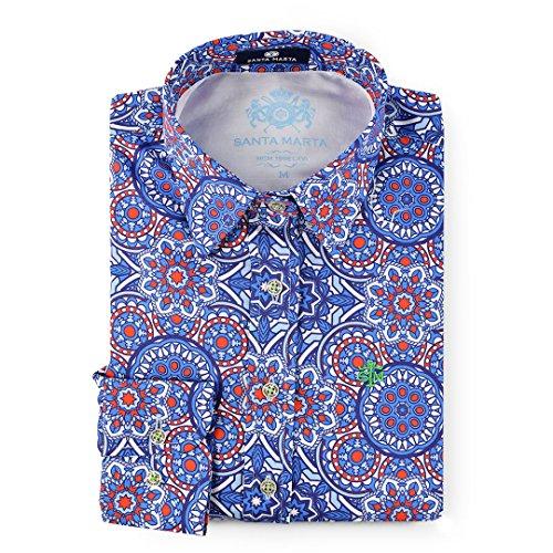 SM SANTA MARTA Camisa Estampado Mandala de Corte Entallado para Mujer l