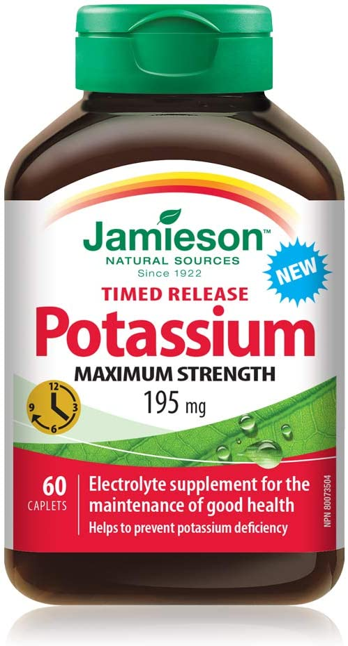 Jamieson Potassium 195mg Albuquerque Mall 60 caplets Popular brand in the world