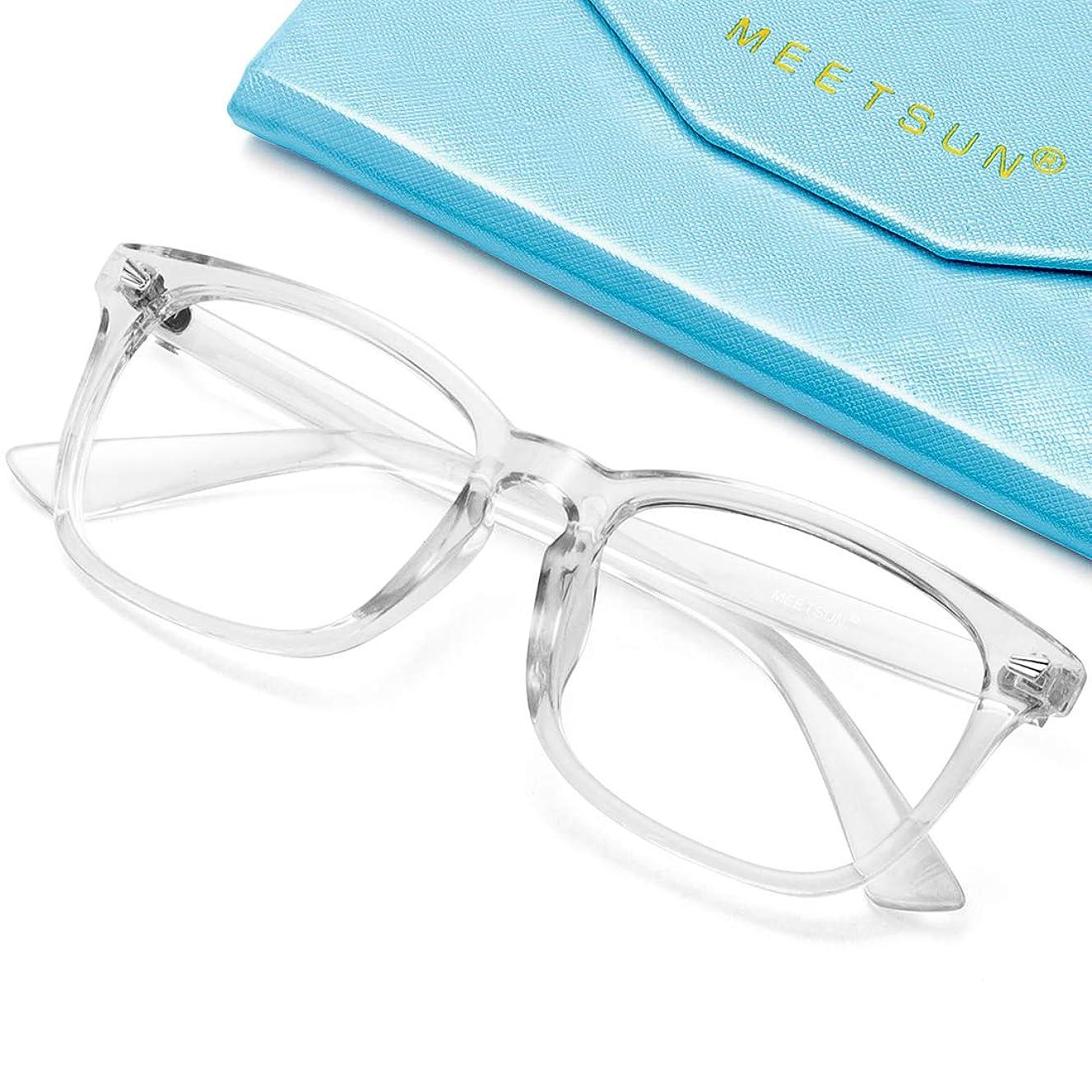MEETSUN Blue Light Blocking Computer Glasses,Anti Eyestrain & Reduce Headache, Anti Glare Lens