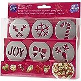 Wilton Holiday Cookie Press Disc Set 6/pkg-Christmas
