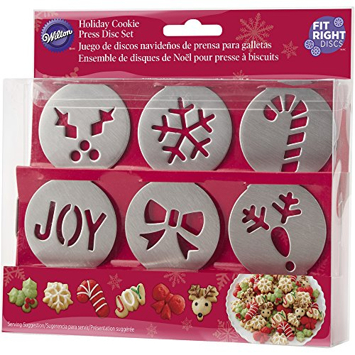Wilton 6-Piece Fit Right Holiday Cookie Disc Set