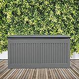 Olsen & Smith 270L Kissenbox Gartenbox Gartentruhe Tisch Stühle Lagerung