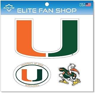 Elite Fan Shop NCAA Magnet 3-Pack