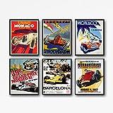 Wallbuddy Poster für Autorennen, Motiv: Grand Prix, Formel
