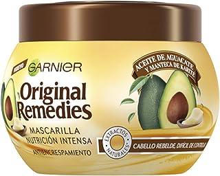 Garnier Remedies avocado-olie en sheaboter, haarmasker voor weerbarstig en kroezend haar, 300 ml