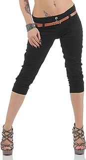 best service ad520 65837 Amazon.it: pantaloni pinocchietto - Nero / Donna: Abbigliamento