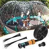 Winthai Trampolin Sprinkler, 12m/39 Fuß Trampolin Wassersprinkler Trampolin sprenkelanlage Garten...