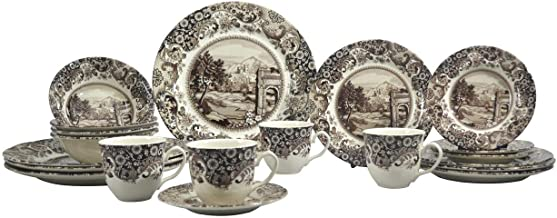 SILVERDALE 20PC DINNER SET ROME BROWN (404RS20)