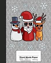 Sheet Music Paper: Santa Snowman Rudolph Reindeer Book (Weezag Sheet Music Paper Notebook)