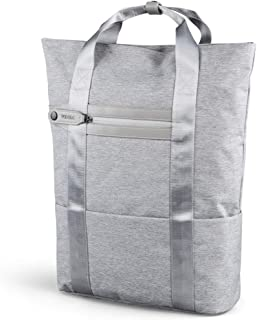 WINKING Minimalist Business Travel Casual Daypack Light Gray Portable Laptop Shoulder Backpack (Gray)