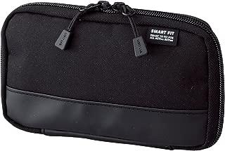 LIHIT LAB. Compact Pen Case (Pencil Case), Water & Stain Repellent, Black, 3.5