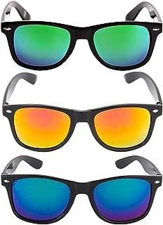 elegante combo of 3 mirrored Square Sunglasses for Men